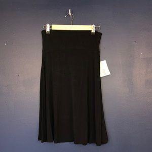 LuLaRoe Azure A-Line Skirt w/ Yoga Waistband